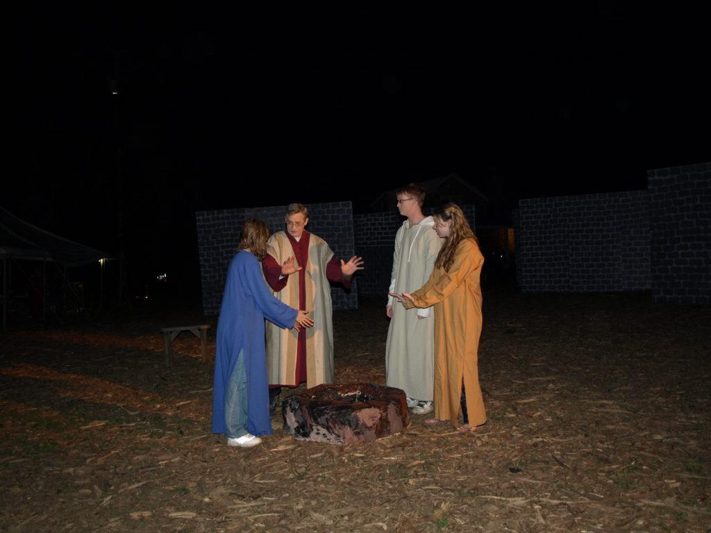 Peter denies Christ.