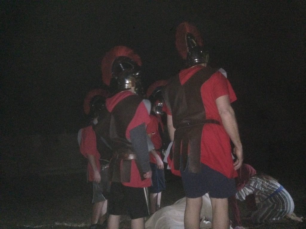 Soldiers in rehearsal