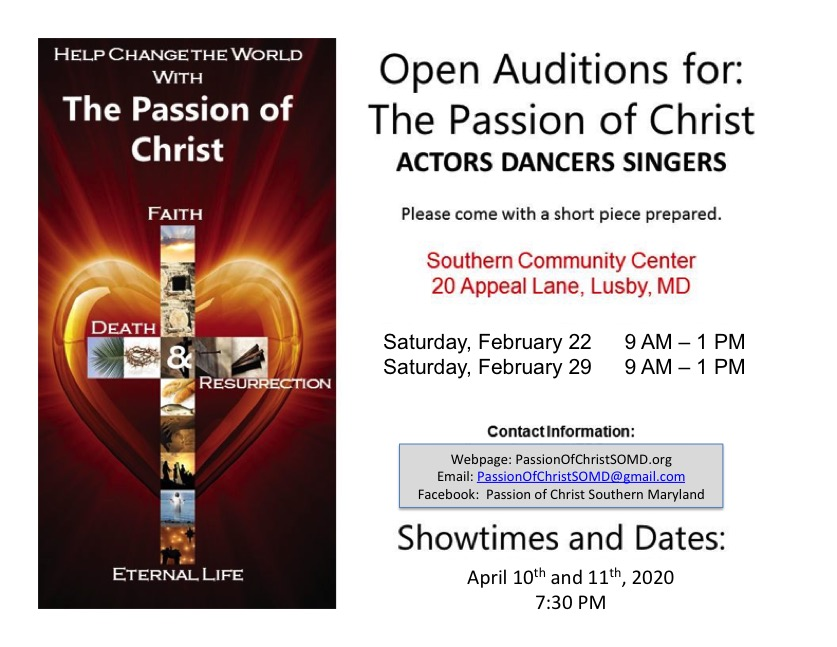 Passion Of Christ Full page auditions
